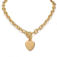 Golden Heart Necklace – Modeets.com
