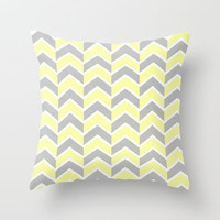 Sun and Clouds Chevron Throw Pillow by Jillian Audrey | Society6