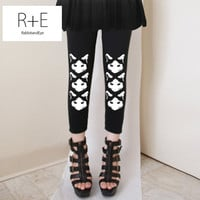 Three Sneaky Cats Womens Black Leggings Style