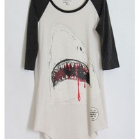 Shark Shirt Dark Sleeves