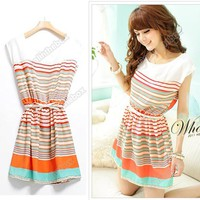 Womens Mini Dress Colorf...