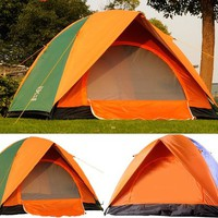 Outdoor camping waterproof and sun protection double layer tents - for three persons from House Beauty