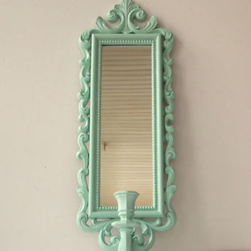Wall Sconces With Mirrors : Mirror Candle Wall Sconce Vintage Ornate from MollyMcShabby on