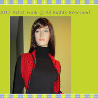 Valentines Red Vest Funky & Colorful Handcrafted by ArtisticFunk