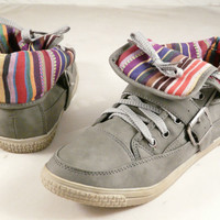 cassey1b lace ups GRAY 7...