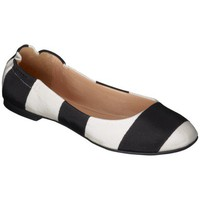 Women's Mossimo Supply Co. Ona Striped Scrunch Ballet Flat - Black/White