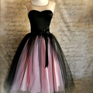 Black and pink tutu skirt for women Ballet by TutusChicBoutique