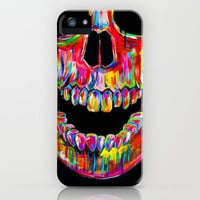 Colorful Unique Skull Print Hard Case for iPhone 4/4s