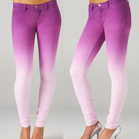 NWT GRAPE PURPLE OMBRE W...