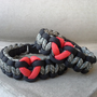 Couples Matching Paracord Bracelets by ThatKnottyGirl on Etsy