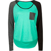VOLCOM Pocket Blocket Womens Raglan Tee 211654549 | L/S tees &amp; Raglans | Tillys.com