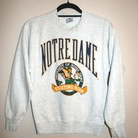 BeWorn — Vintage Grey University of Notre Dame Jumper