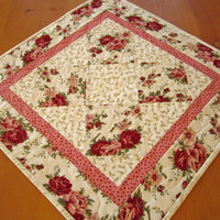 Table Topper Floral - $28.00 - Handmade Crafts by PatchworkMountain
