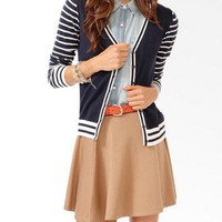 Striped Trim Cardigan | FOREVER 21 - 2030624524
