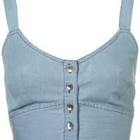 Denim Soft Bralet - Tops - Apparel - Topshop USA