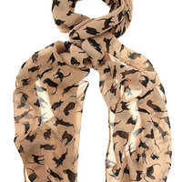 Stone cat print skinny scarf - View All - Scarves & Snoods - Dorothy Perkins