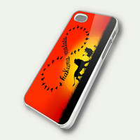 Disney Funny Hakuna Matata, Infinity Hakuna Matata iPhone 5 Case, iPhone 4 Case, iPhone 4s Case, iPhone 4 Cover, Hard iPhone 4 Case OC18