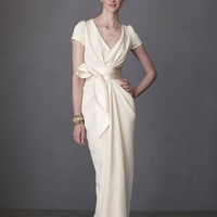 Crepe De Chine Column Gown in SHOP The Bride Wedding Dresses at BHLDN