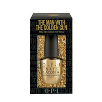 O.P.I Limited Edition The Man With The Golden Gun Top Coat With 18k Gold Leaf