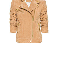 MANGO - NEW! - Motor style suede jacket