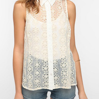 Pins And Needles Sleeveless Eyelet Blouse