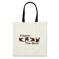 Flipping the Bird Canvas Bags from Zazzle.com