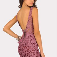 Lori Lace Dress - Purple