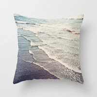 Ocean Waves Retro Throw Pillow by Kurt Rahn | Society6