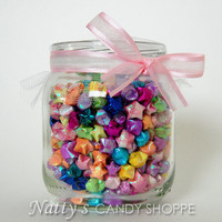 Jar of Wishes  Rainbow Origami Paper Lucky by NattysCandyShoppe