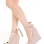 Nude Faux Suede Ankle Tie Sexy Platform Wedges  @ Amiclubwear Wedges Shoes Store:Wedge Shoes,Wedge Boots,Wedge Heels,Wedge Sandals,Dress Shoes,Summer Shoes,Spring Shoes,Prom Shoes,Women's Wedge Shoes,Wedge Platforms Shoes,floral wedges,Fashion Wedge Shoe