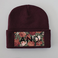 ANDCLOTHING — Burgundy AND Beanie