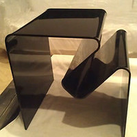 ORIGINAL!! Mid Century Modern NEAL SMALL 1960s. Black Acrylic Amorphic Table