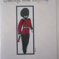 Handcrafted England  Palace Guard  by BeadedDelightsByStef on Etsy