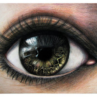 Print  Human Eye Iris Painting Surreal Realism by TheDaytimeHeroes