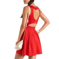 Stylist's Pick: Heart Cutout Scuba Skater Dress: Charlotte Russe