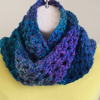 Ladies Scarf Thick and Extra Long in Shades by ByTheLakeCrochet