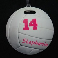Amazon.com: personalized Round Volleyball Bag Tag: Sports & Outdoors