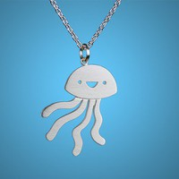 Happy Jellyfish Necklace