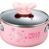 Sanrio Hello Kitty Pink Heart Soup Pot Cooking Pan #0405