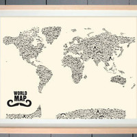 Mustache World Map | Me Wanty