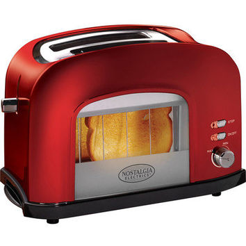 Retro Red Countertop Toaster w/ See Through Toasting Window ~ 2 Wide Slice Slots on eBay!