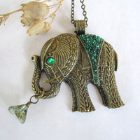 Elephant Necklace by 636designs on Etsy