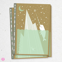 narwhal bee land notebook by beethings on Etsy