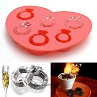 1x Ring Freeze Party Drink Ice Cube Mould Jelly Chocolate Ring Maker Tray