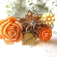 Autumn Love Vintage Style Collage Bracelet - Autumn Orange Spice | Luulla