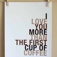 SALE Valentine, Coffee Art Print, 8x10 | Luulla