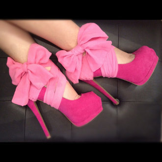 Pink Chiffon Heel Condom