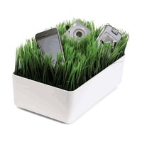 Grass Charging Station with White Base