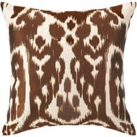 Trina Turk Pillow Embroidered Linen Ojai Chocolate