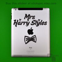 iPad - Mrs Harry Styles - One Direction - (Laptop Sticker 1D Wall Sticker Decal PC Apple Macbook Mac Geekery)